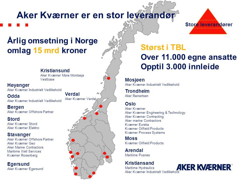 Aker Kværner er en stor leverandør