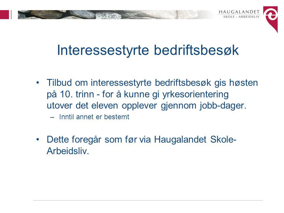 Interessestyrte bedriftsbesøk