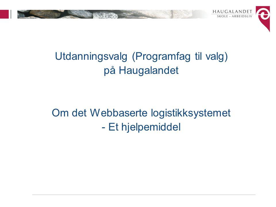 Utdanningsvalg (Programfag til valg) på Haugalandet