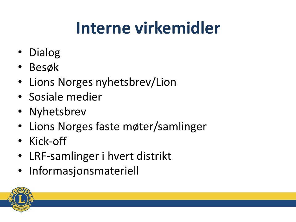Interne virkemidler Dialog Besøk Lions Norges nyhetsbrev/Lion
