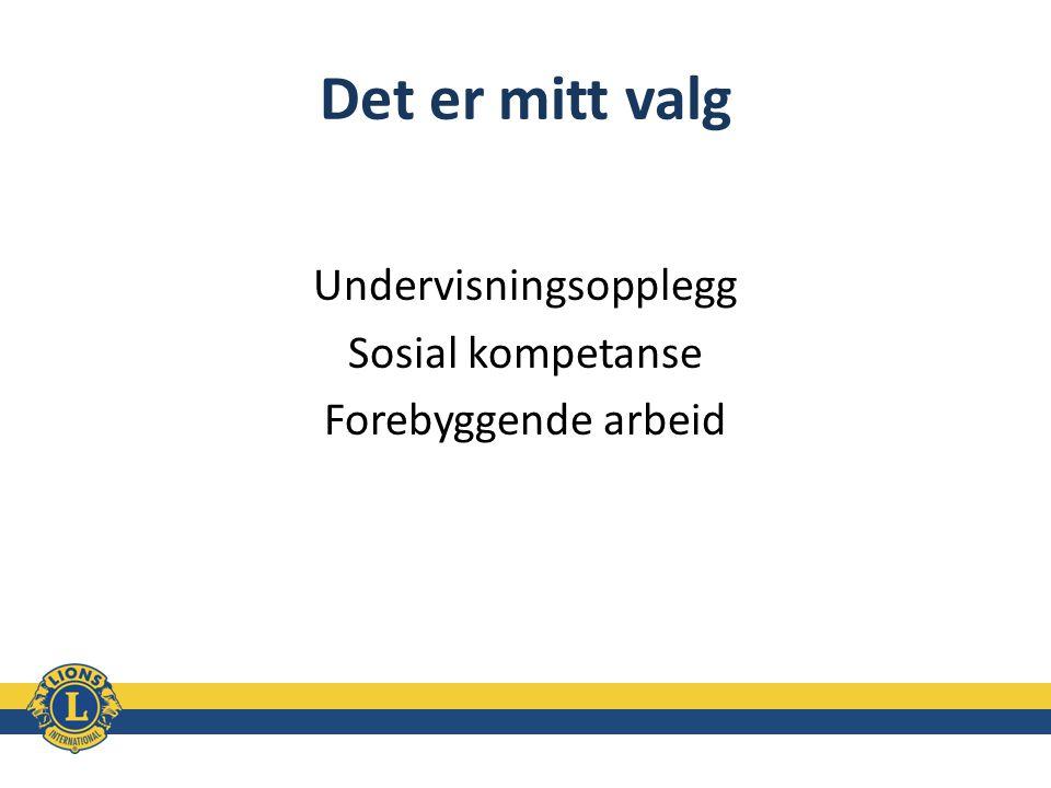 Undervisningsopplegg Sosial kompetanse Forebyggende arbeid