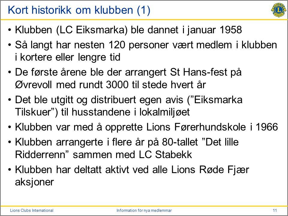 Kort historikk om klubben (1)