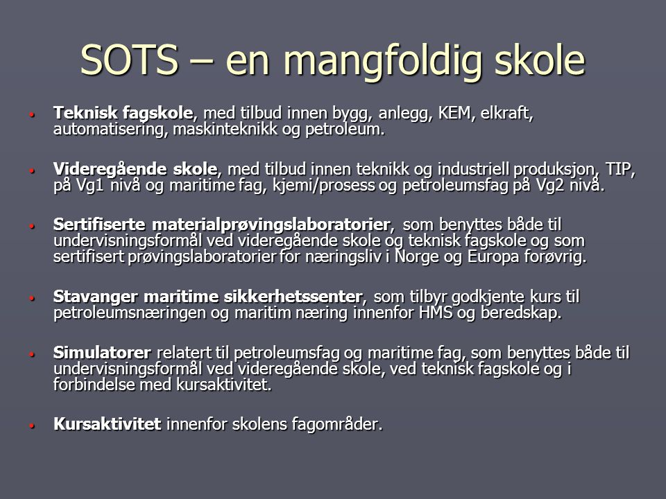 SOTS – en mangfoldig skole