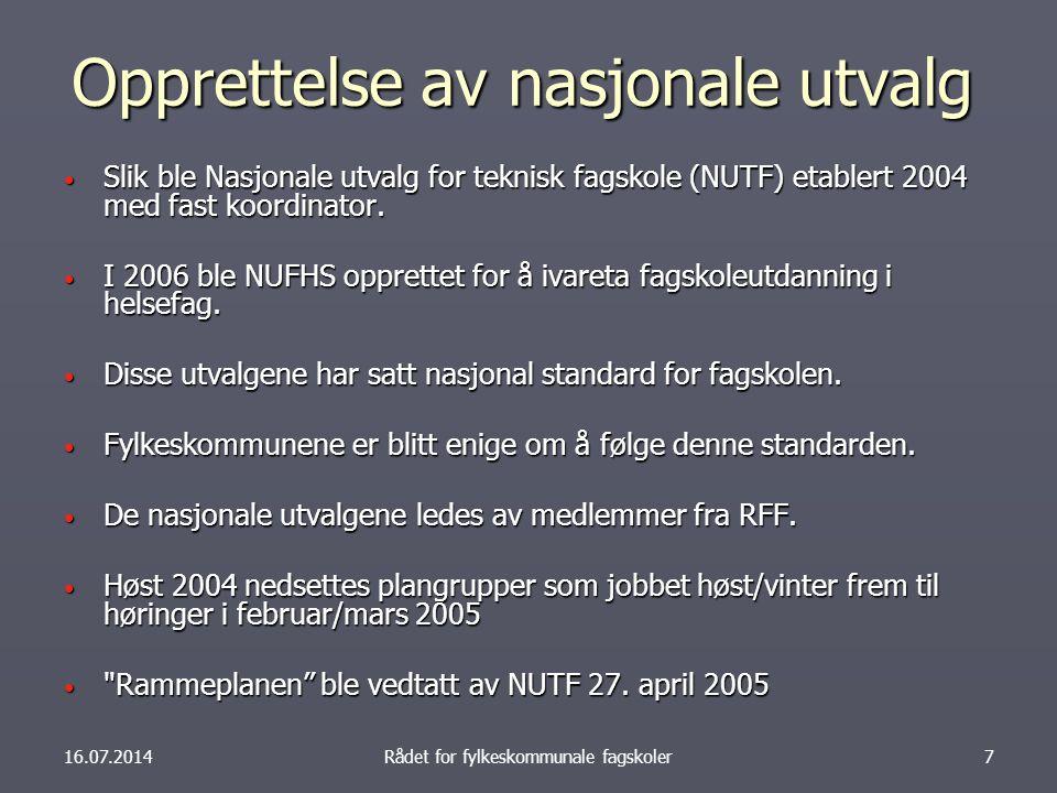 Opprettelse av nasjonale utvalg