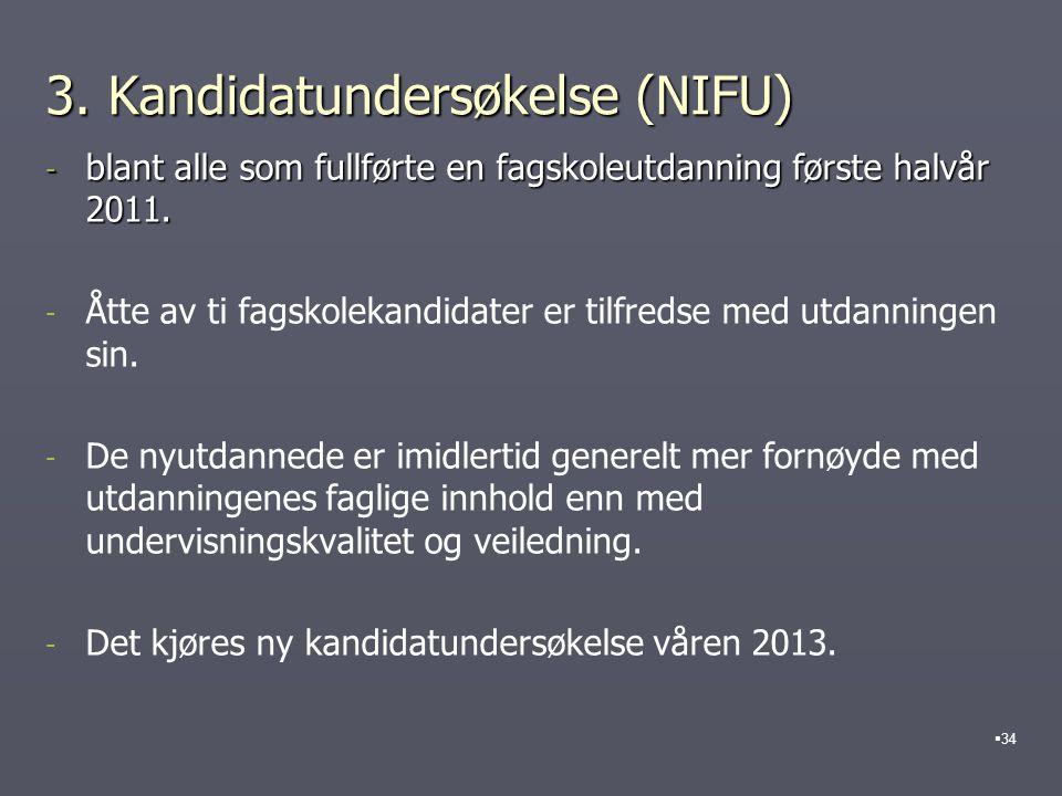 3. Kandidatundersøkelse (NIFU)