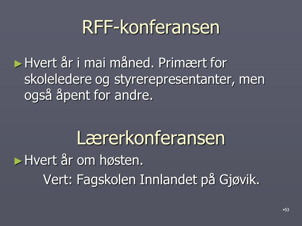 RFF-konferansen Lærerkonferansen