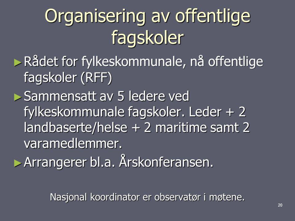 Organisering av offentlige fagskoler