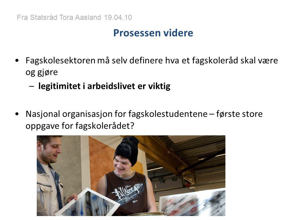 Fra Statsråd Tora Aasland 19.04.10