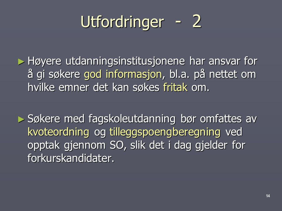 Utfordringer - 2