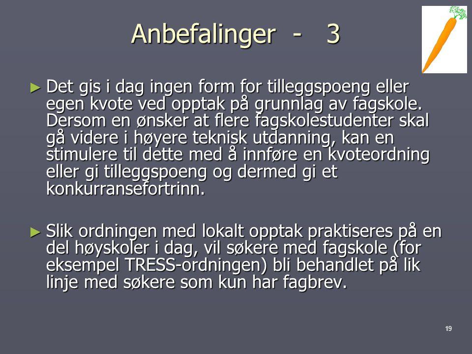 Anbefalinger - 3