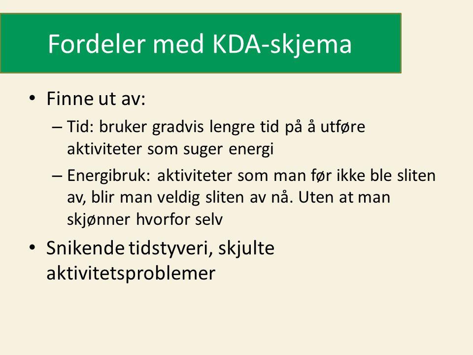 Fordeler med KDA-skjema