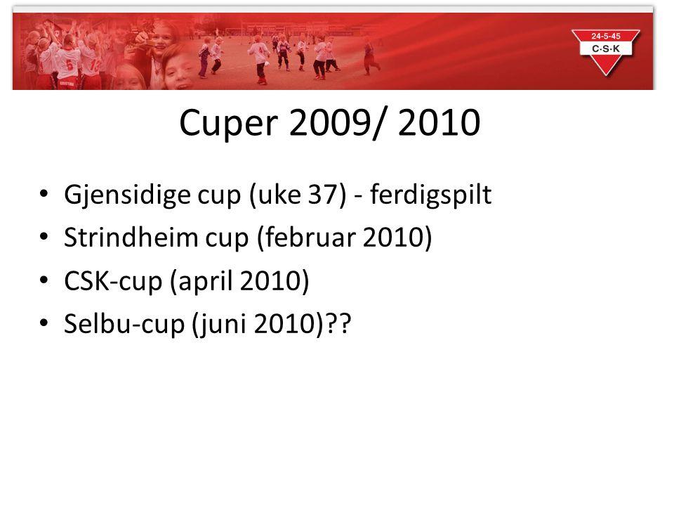 Cuper 2009/ 2010 Gjensidige cup (uke 37) - ferdigspilt