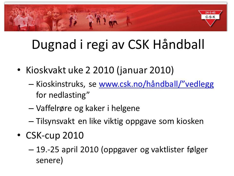 Dugnad i regi av CSK Håndball