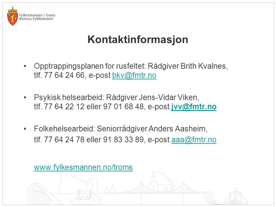 Kontaktinformasjon www.fylkesmannen.no/troms