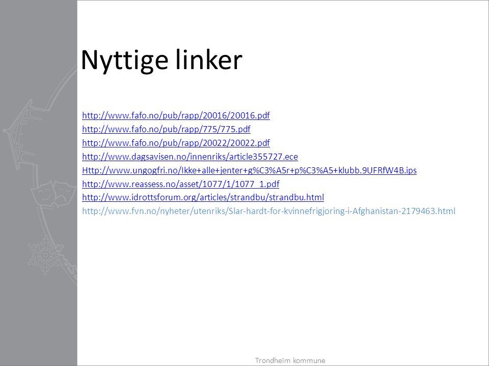 Nyttige linker http://www.fafo.no/pub/rapp/20016/20016.pdf