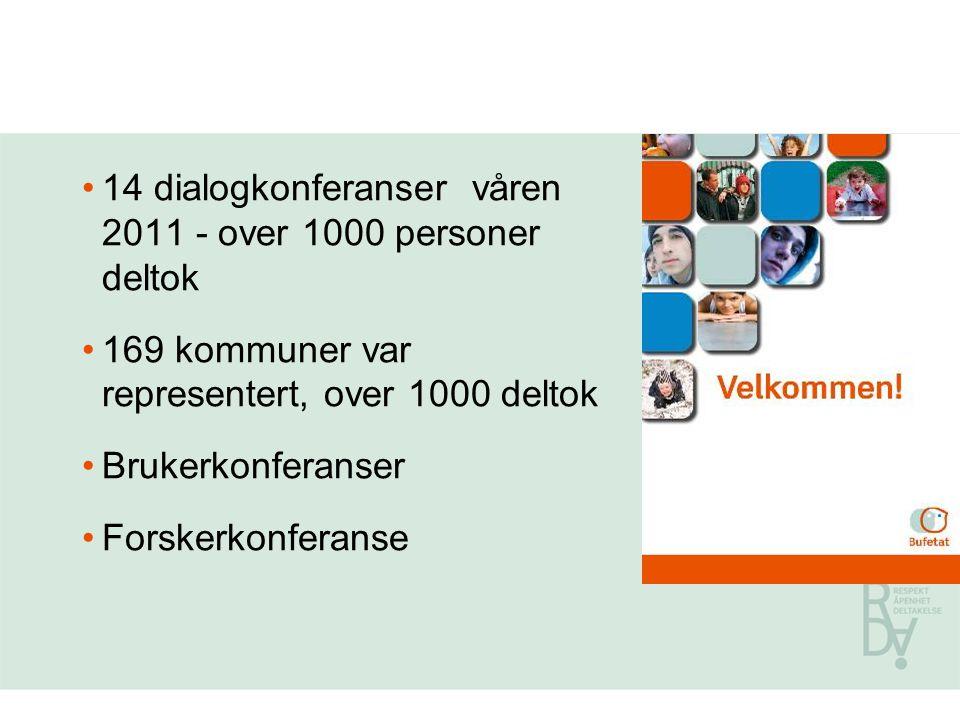 14 dialogkonferanser våren 2011 - over 1000 personer deltok