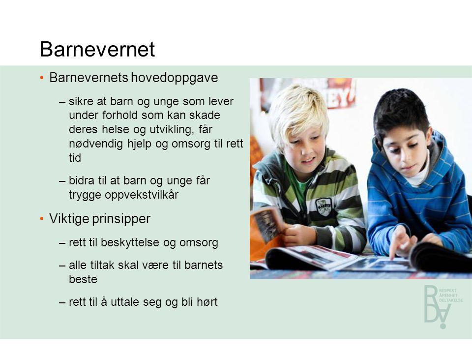 Barnevernet Barnevernets hovedoppgave Viktige prinsipper