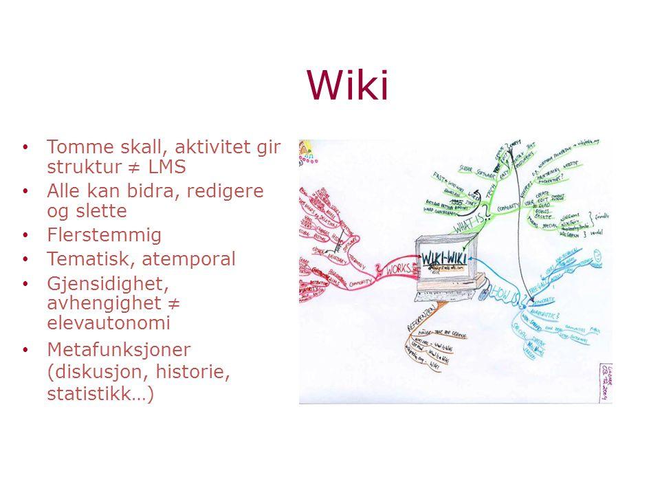 Wiki Tomme skall, aktivitet gir struktur ≠ LMS