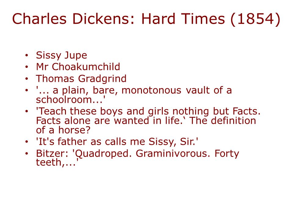 Charles Dickens: Hard Times (1854)
