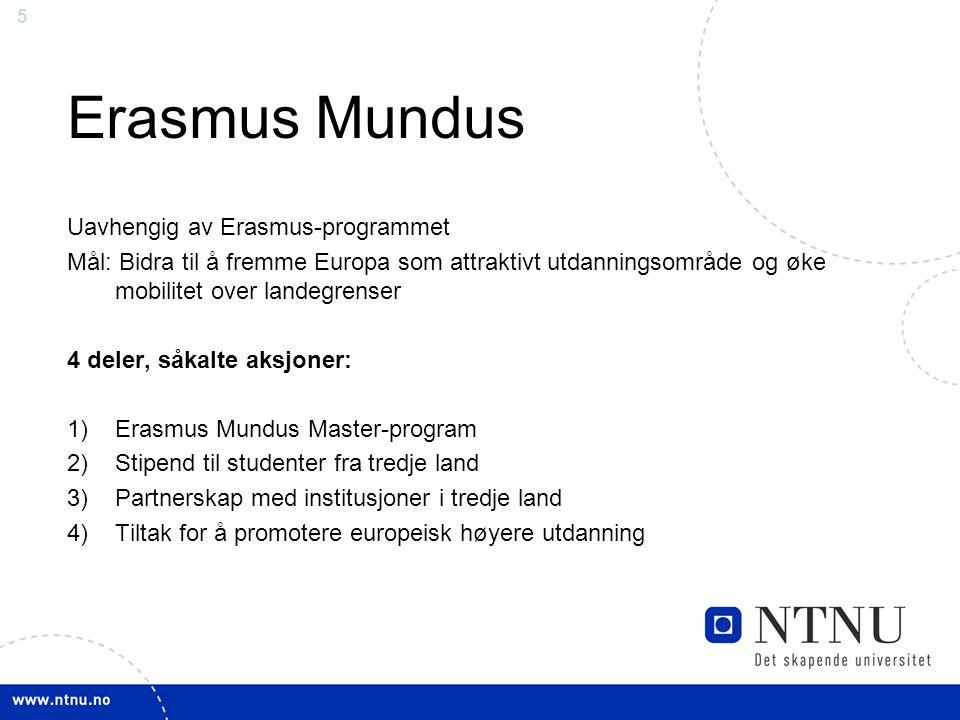 Erasmus Mundus Uavhengig av Erasmus-programmet