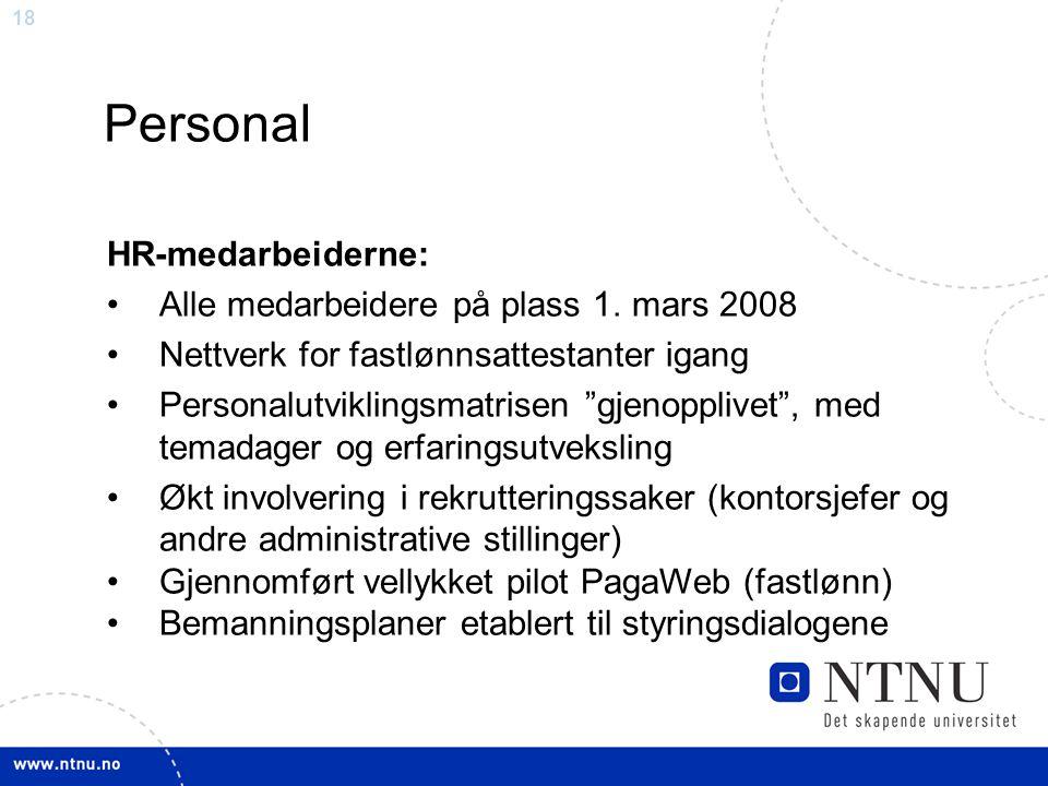 Personal HR-medarbeiderne: Alle medarbeidere på plass 1. mars 2008
