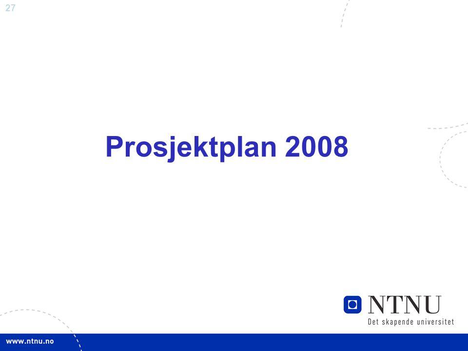 Prosjektplan 2008