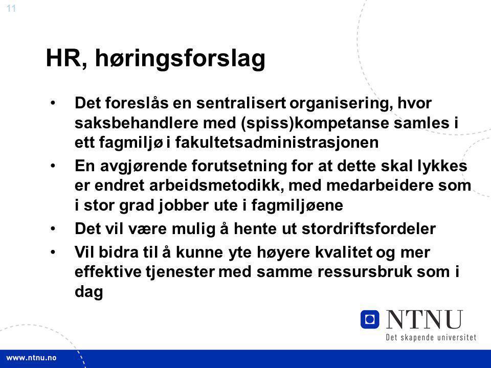 HR, høringsforslag