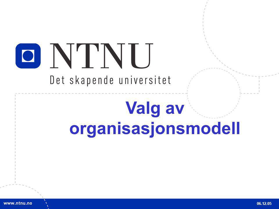 Valg av organisasjonsmodell