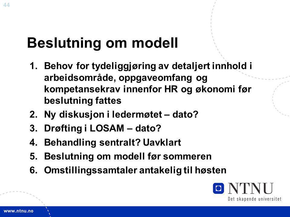 Beslutning om modell
