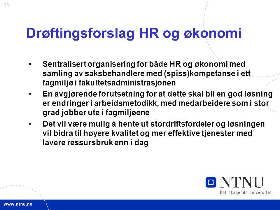 Drøftingsforslag HR og økonomi