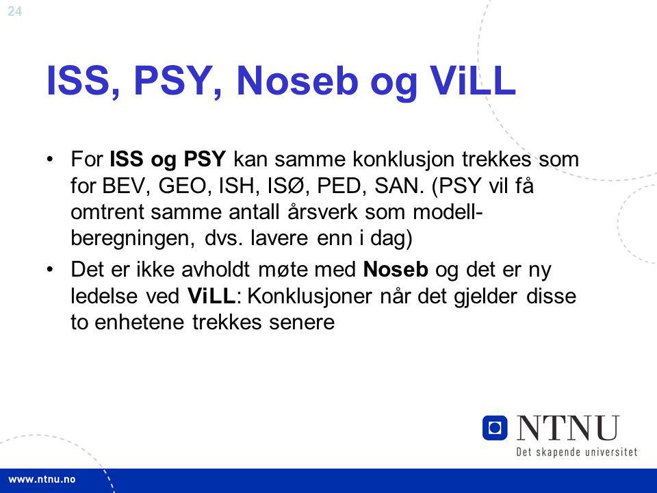 ISS, PSY, Noseb og ViLL