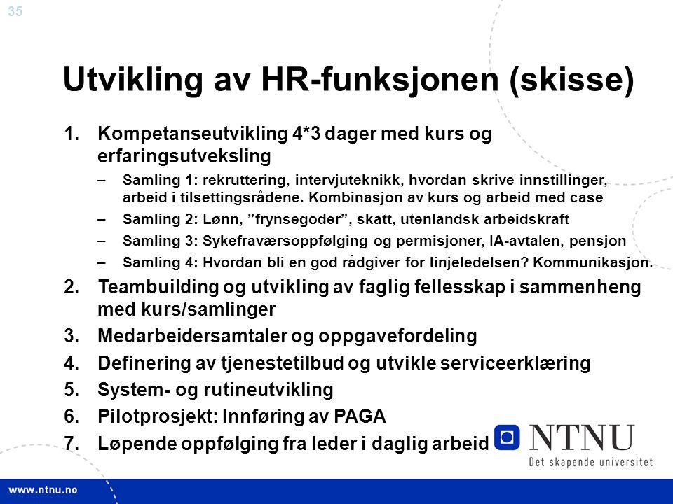 Utvikling av HR-funksjonen (skisse)