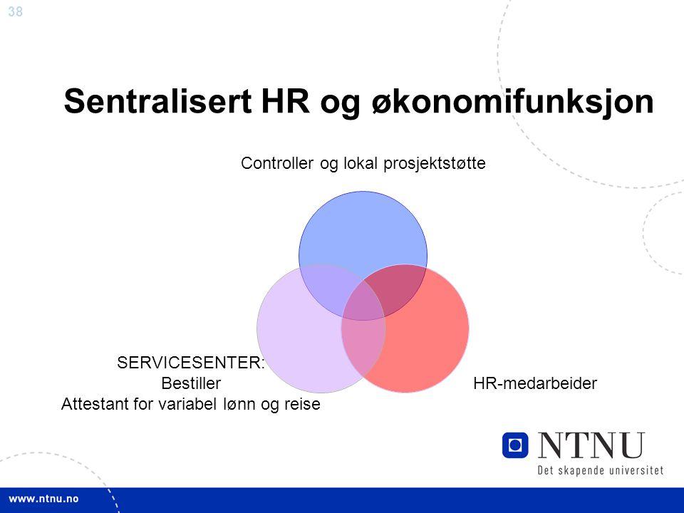 Sentralisert HR og økonomifunksjon