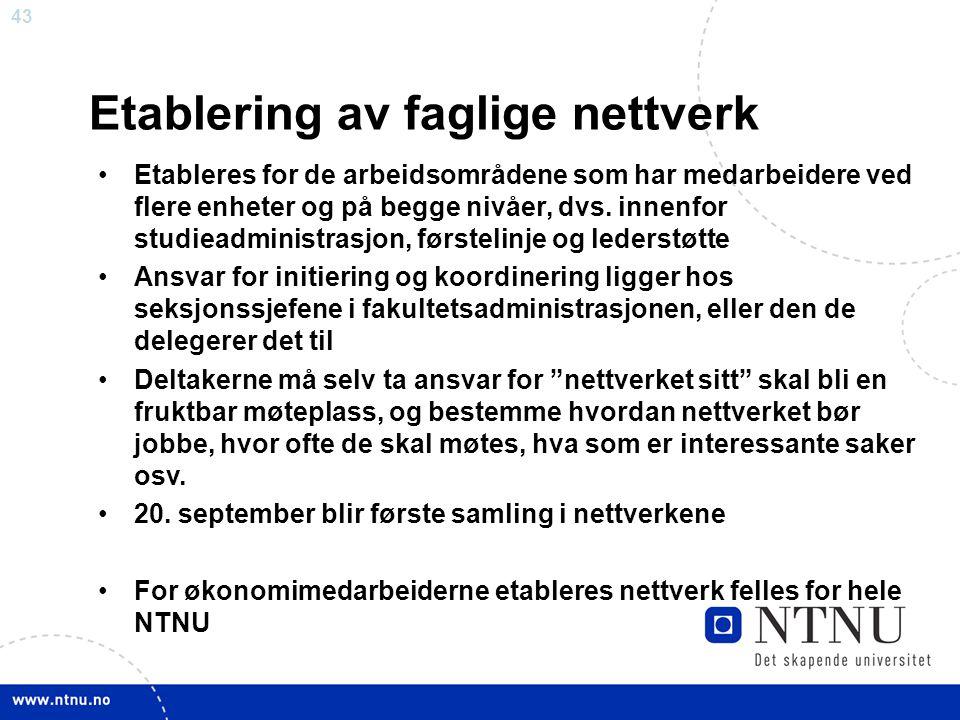 Etablering av faglige nettverk