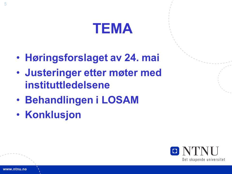 TEMA Høringsforslaget av 24. mai