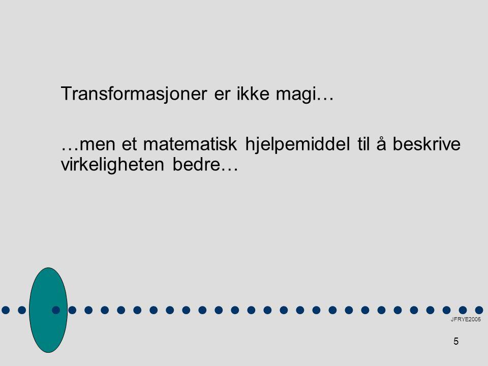 Transformasjoner er ikke magi…