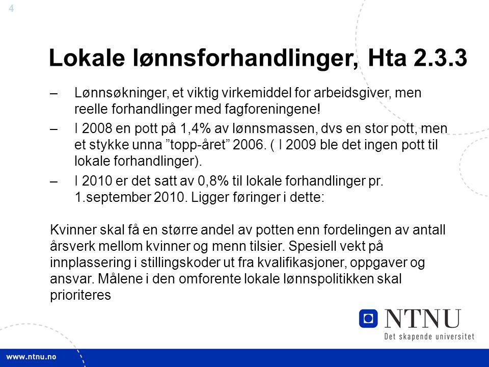 Lokale lønnsforhandlinger, Hta 2.3.3