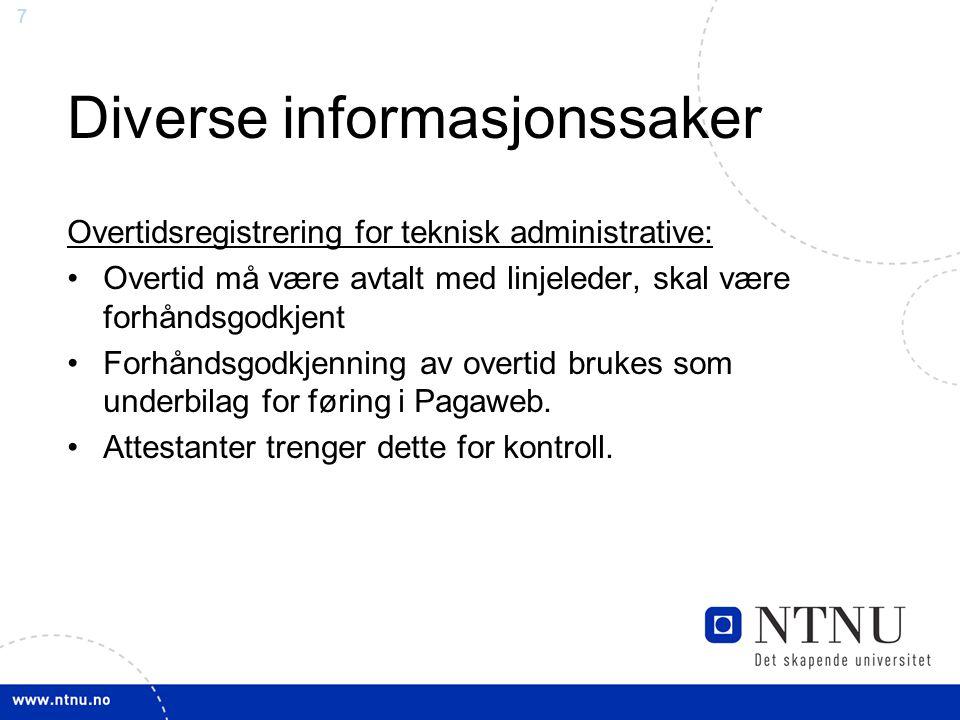 Diverse informasjonssaker