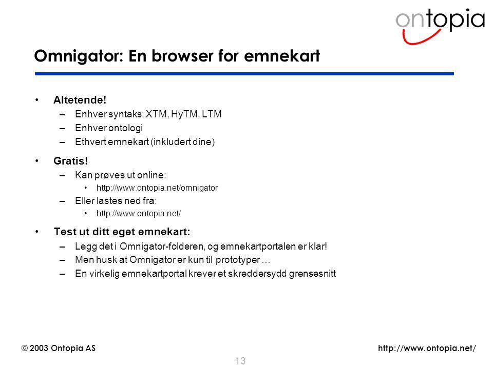 Omnigator: En browser for emnekart