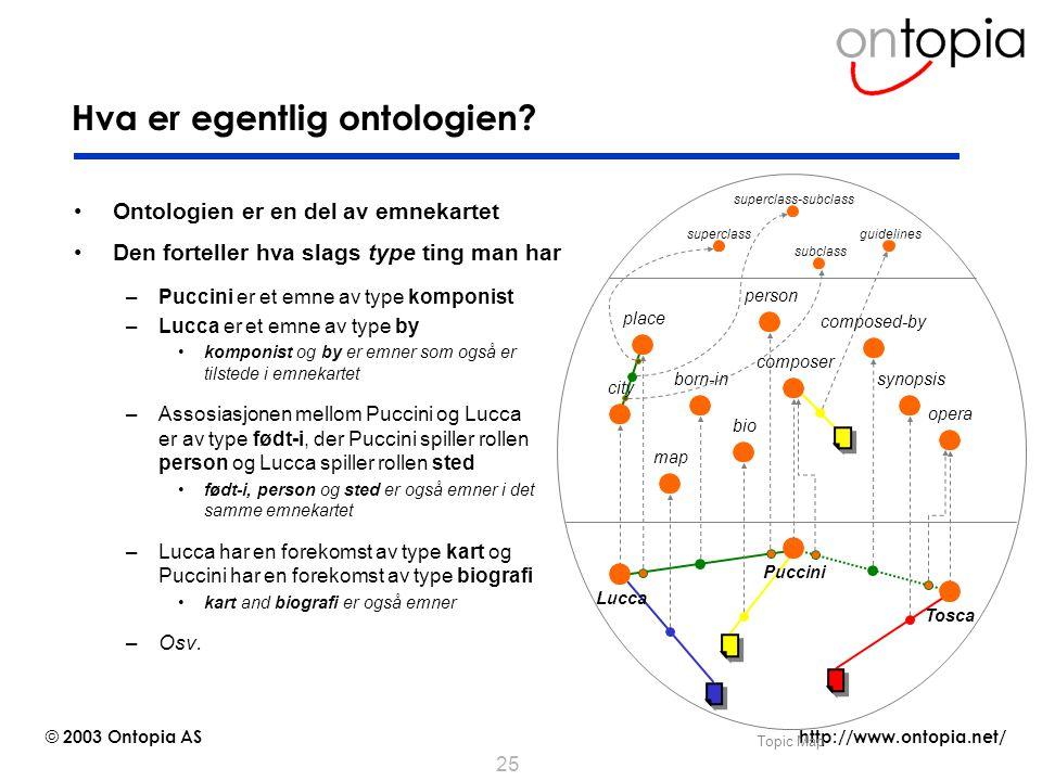 Hva er egentlig ontologien
