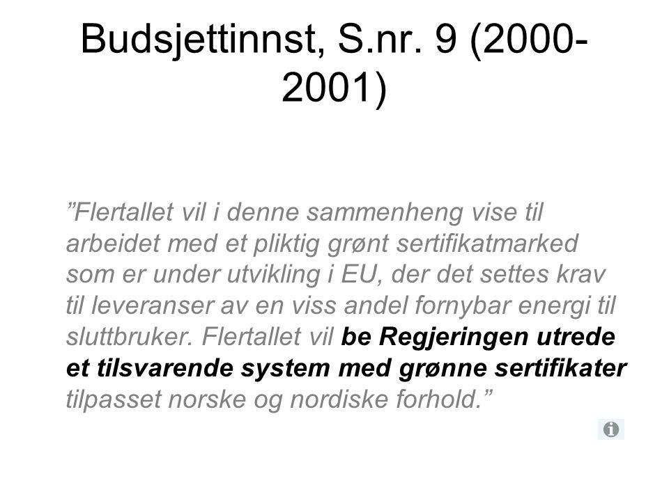 Budsjettinnst, S.nr. 9 (2000-2001)