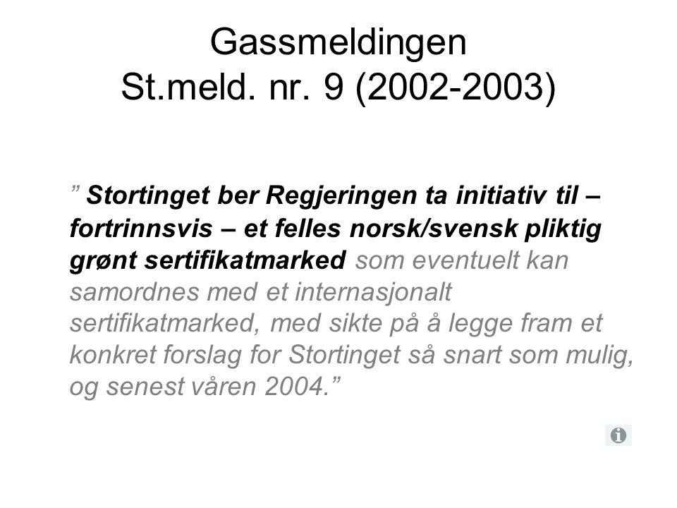 Gassmeldingen St.meld. nr. 9 (2002-2003)