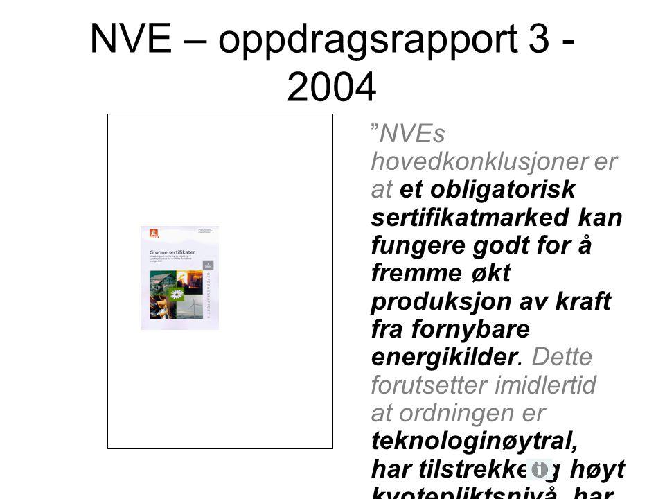 NVE – oppdragsrapport 3 - 2004