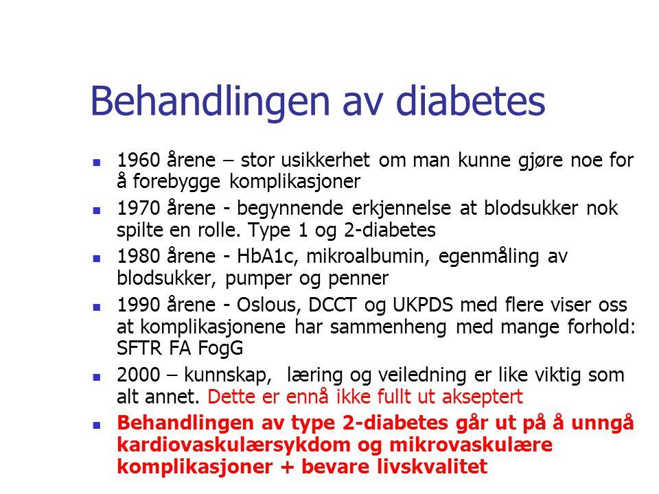 Behandlingen av diabetes