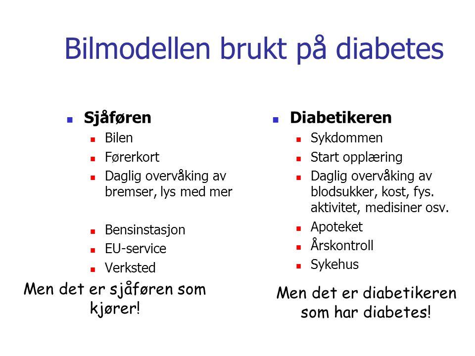 Bilmodellen brukt på diabetes