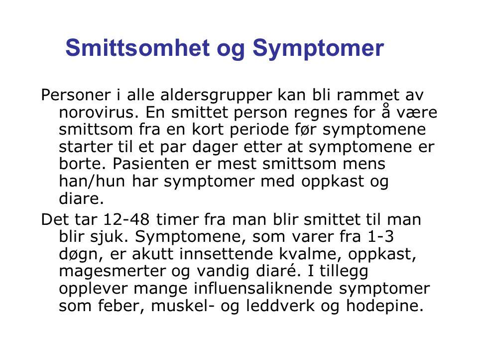 Smittsomhet og Symptomer