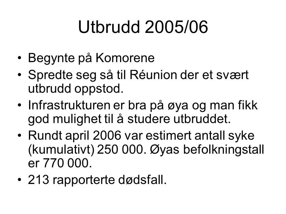 Utbrudd 2005/06 Begynte på Komorene