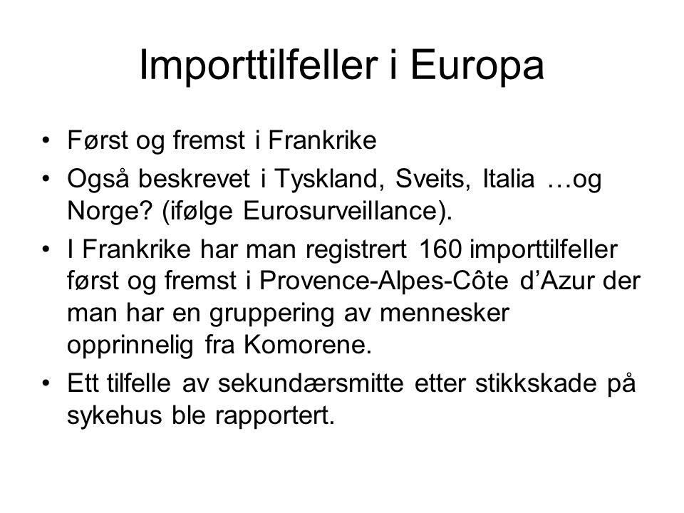 Importtilfeller i Europa