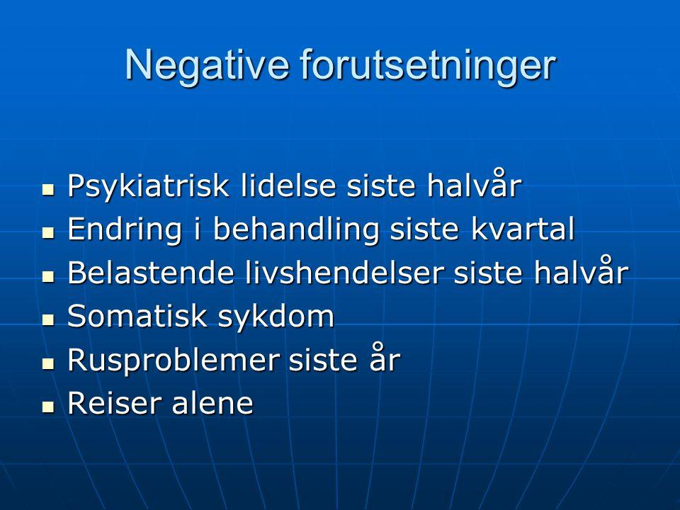 Negative forutsetninger