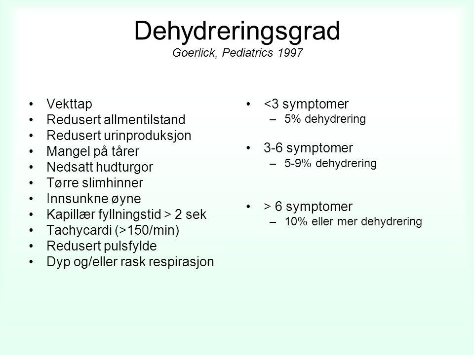 Dehydreringsgrad Goerlick, Pediatrics 1997